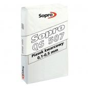 Пісок кварцовий з фракцією 0,1-0,5 мм наповнювач затирання Sopro QS 507 25 кг