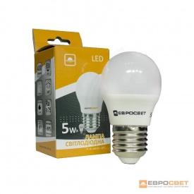 Лампа світлодіодна ЕВРОСВЕТ 5 Вт 4200 К Р-5-4200-27 E27