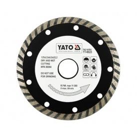 Круг отрезной алмазный YATO TURBO 125x8,0x22,2 мм 2,6 мм