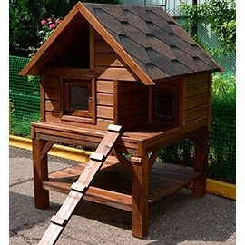 Дерев'яний будиночок для кішки на вулиці Гюмрі 1500х700х700 мм