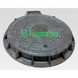 Люк легкий каналізаційний полімерпіщаний ЛМ (А15)-В.1-64 (14.21)