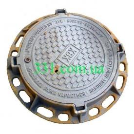 Люк каналізаційний важкий В з замком (С250 Водоканал) (2.08.1) (IMPA557)