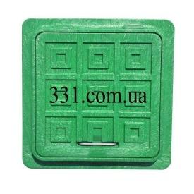 Люк пластмассовый квадратный 500х500 мм зеленый (13.08.41)