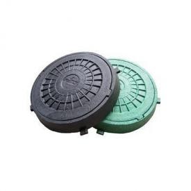 Люк садовый пластмассовый легкий №2 1 т с замком черный (13.00.6) (IMPA602)
