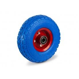 Колесо на тачку 4.10/3.50-4 піна на вісь 16 мм синє