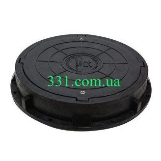 Люк пластмассовый тяжелый (С250) с замком (02890) (IMPA522)
