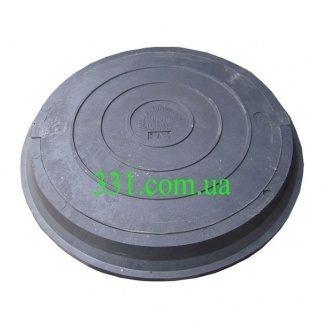 Люк легкий канализационный полимерпесчаный 2 т черный (14.22) (IMPA527)