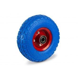 Колесо на тачку 4.10/3.50-4 пена на ось 16 мм синее