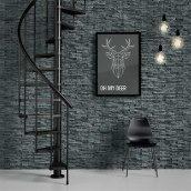 Винтовая лестница DOLLE Calgary Антрацит спральная