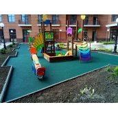 Резиновое покрытие детских площадок под ключ