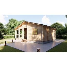 Строительство дома деревянного из профилированного бруса 8х5,5 м