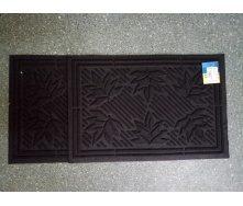 Коврик резиновый коридорный с ворсовым покрытием 40x60 см