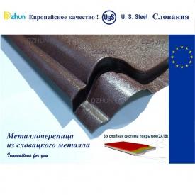 Металочерепиця Dzhun Standard Словакия PEМА 0,45 мм 1100/1180 мм