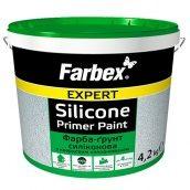 Краска-грунт силиконовая с кварцевым наполнителем FARBEX белый 14 кг