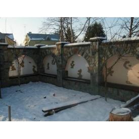 Устройство каменной арки забора