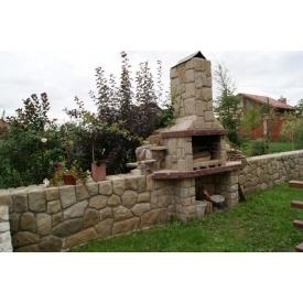 Будівництво барбекю з кам`яним декором