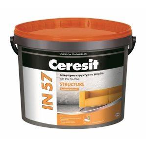 Интерьерная структурная краска Ceresit IN 57 STRUCTURE База А акриловая 3 л