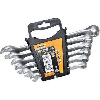 Набор ключей рожково-накидных Premium Miol CrV сатин. 8-17 мм 6 шт