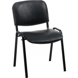 Стілець офісний ISO black оббивка кожзам
