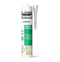 Герметик Ceresit Akryl 280 мл білий (645834)