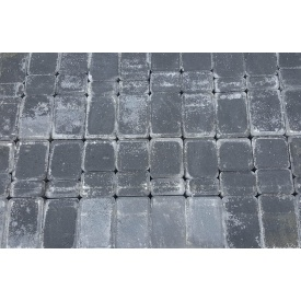 Тротуарная плитка Старый город 4 см черная