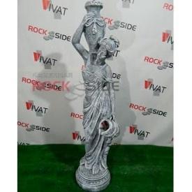 Скульптура Rock Side Дівчина з глечиками 34х34х142 см під старовину світла