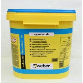 Високоеластична гідроізоляційна бітумна мастика WEBER weber.tec Superflex 10 30 л