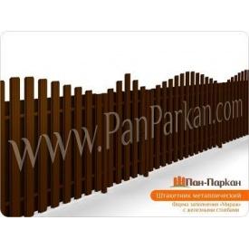 Забор из двухстороннего металличиского штакета Мираж