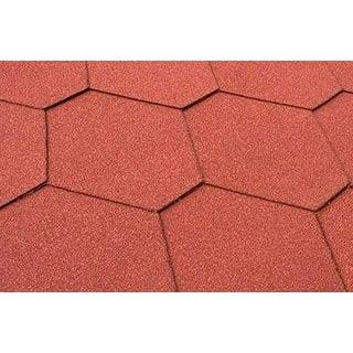 Бітумна черепиця Matizol Hexagon SBS 3D меланж червона