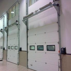 Секционные промышленные ворота Alutech ProPlus S-гофр