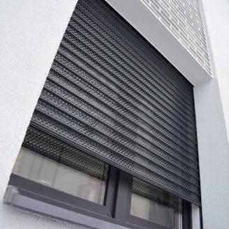 Ролетна решітка ALUTECH Security з дрібною перфорацією 1700х2200 мм антрацит