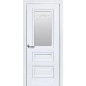 Дверное полотно Новый Стиль Элегант СТАТУС белый матовый 700 мм стекло ПП Premium