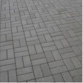 Тротуарная плитка Золотой Мандарин Кирпич стандартный 200х100х60 мм серый