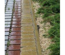 Поребрик Золотой Мандарин 1000х200х60 мм на сером цементе горчичный