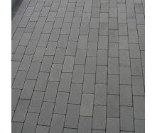 Тротуарна плитка Золотий Мандарин Цегла без фаски 200х100х60 мм сірий