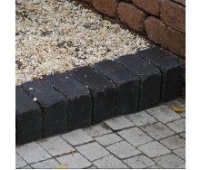 Тротуарная плитка Золотой Мандарин Кирпич Антик 240х160х90 мм полный прокрас черный