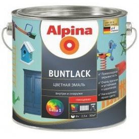 Эмаль цветная для дерева и металла Alpina Buntlack GL шоколадно-коричневый RAL8017 2,5 л