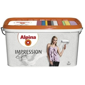 Краска структурная белая Alpina Effekt Impression CE 10 л