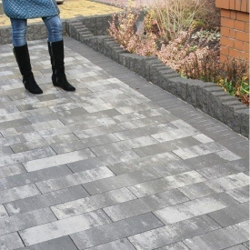 Тротуарна плитка Золотий Мандарин Паркет 450х150х60 мм грейс