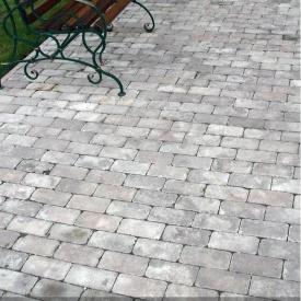 Тротуарна плитка Золотий Мандарин Цегла Антик 200х100х60 мм сірий