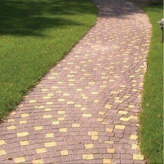 Тротуарна плитка Золотий Мандарин Креатив 60 мм на сірому цементі коричневий