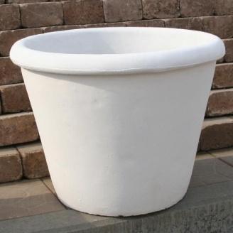 Бетонная ваза Золотой Мандарин Большая 470 мм белая