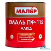 Емаль Маляр ПФ-115 0,8 кг біла
