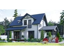 Строительство дачного дома по проекту Фюжин