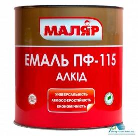 Эмаль Маляр ПФ-115 0,8 кг белая