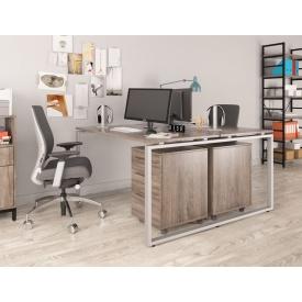 Подвійний офісний стіл Q-140 Loft-design 1350х750х1400 мм дсп дуб-палена