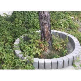 Бордюр тротуарний Палісадник садовий 350х120х120 мм сірий