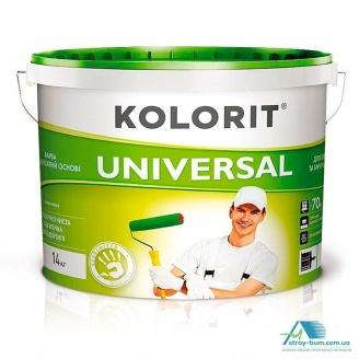 Фарба фасадна матова на акрилатной основі Kolorit Universal 10 л