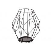 Підсвічник ATMOSPHERA металевий чорний 19x21 см (136696A)