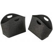 Кошики універсальні ADAM SCHMIDT для зберігання з фетру темно-сірі овальні 2 шт (6808/1-2DG)